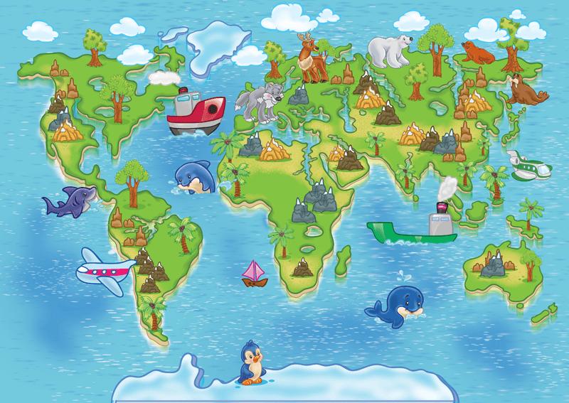 Cartina Mondo Ingrandita.Sui Tipi Di Carte Geografiche I Bambini Ci Parlano