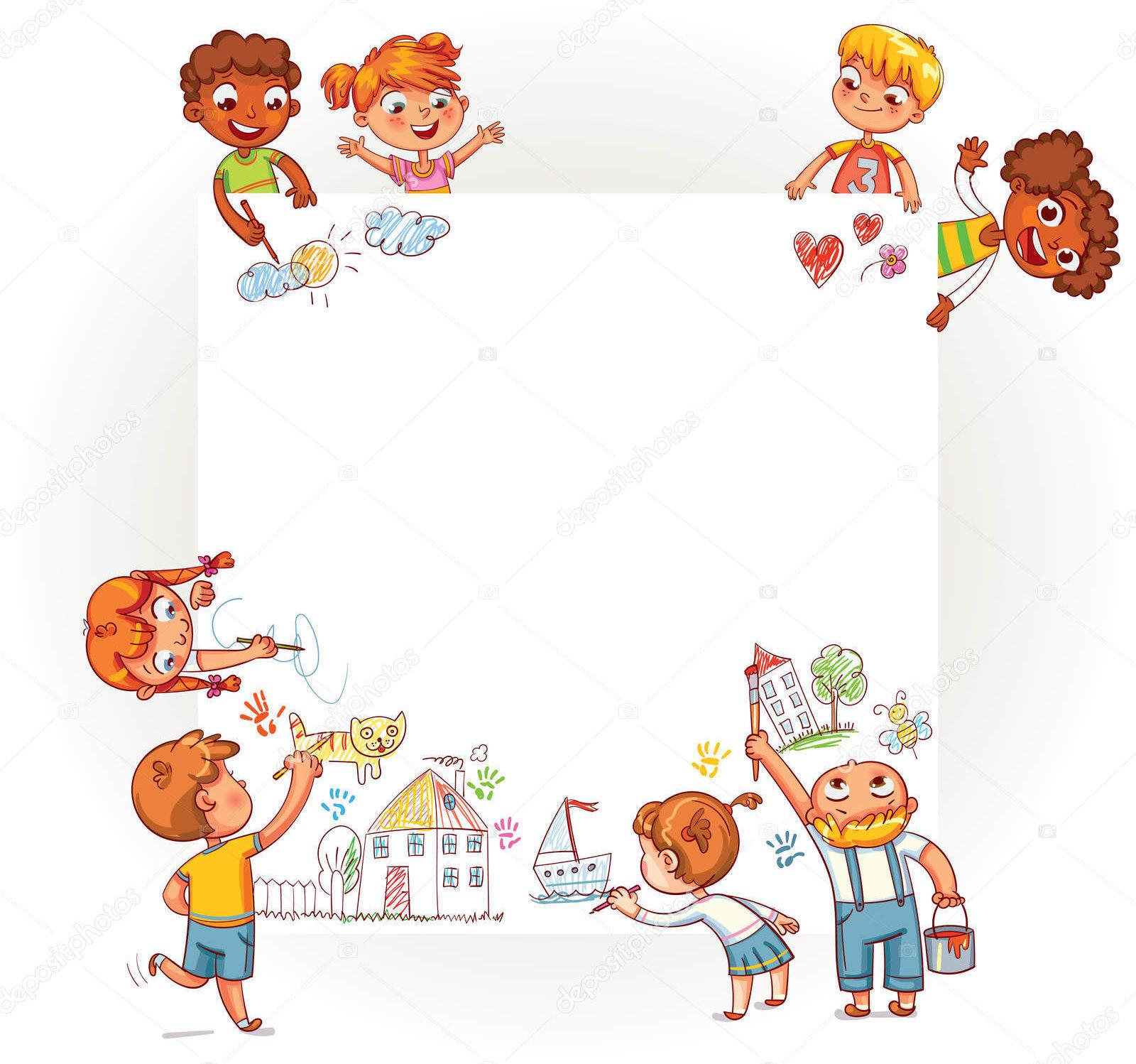 Disegno Bambini Che Parlano.Sul Grande Disegno I Bambini Ci Parlano
